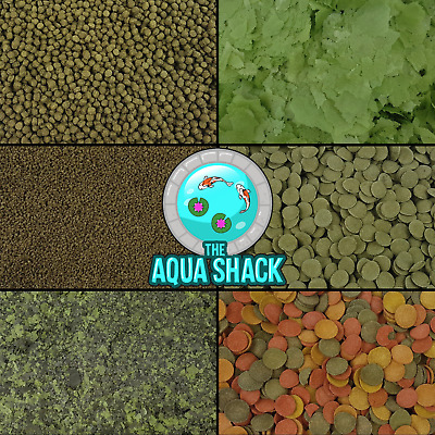 £4.49 • Buy Spirulina Fish Food - Flakes Pellets Granules Wafers Tropical Coldwater Marine