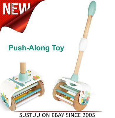 Janod Pure Push-Along Toy│Wooden Play Toy│Walk & Run Activity│18m+ • 18.92£