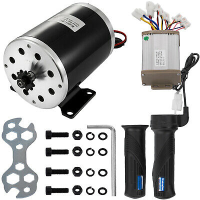 1000W 48V Electric Motor Kit W/ Base Speed Control Thumb Throttle For Scooter • 69.95£