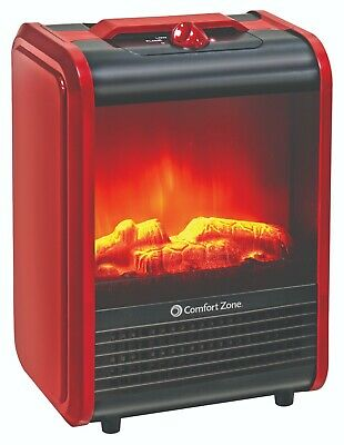 $53.99 • Buy Comfort Zone Mini Electric Fireplace Space Heater, Red