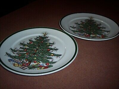 $18 • Buy Cuthbertson House Original Christmas Tree - 2 Lunch/Salad/Dessert Dishes - 8