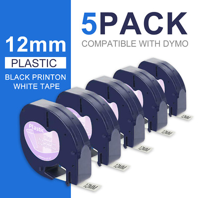 AU17.09 • Buy 5 PK 16952 12267 Replace DYMO LetraTag Refills Clear Transparent Label Tape 12mm