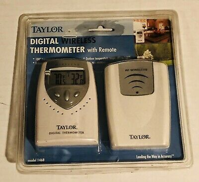 $27.99 • Buy Taylor Digital RF Wireless Thermometer Remote Indoor Outdoor Temperature System