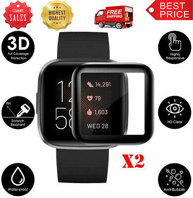 $ CDN5.46 • Buy 2Pack For Fitbit Versa 2 Full Cover Tempered Glass Screen Protector New