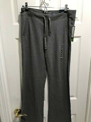 $18.99 • Buy NWT Women's Tek Gear Gray Fit & Flare Drawstring Athleisure Pants Med