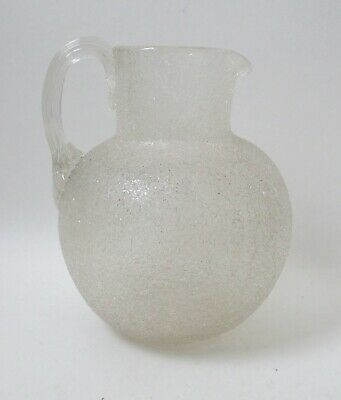 Lovely Victorian Late 19th Century Overshot Crackle Glass Jug • 18£