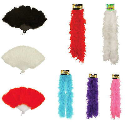 Show Girl Feather Fan Boa 150 Cm 1920s Burlesque Hen Party Fancy Dress Accesory • 5.49£