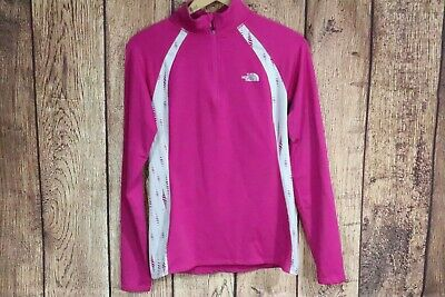 £7.87 • Buy North Face 1/4 Zip Pullover Long Sleeve Base Layer Athletic Top Sz S Magenta