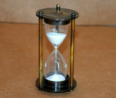 AU21.50 • Buy Antique Vintage Brass Sand Timer 2 Minute Sandtimer Brown Collectible Replica