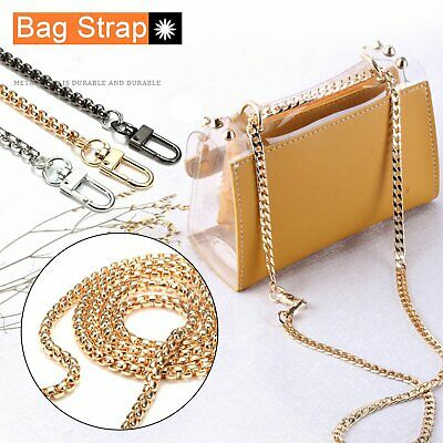 AU9.99 • Buy 120cm Bag Strap Shoulder Bag Replacement 6mm Chain Strap Crossbody Handbag