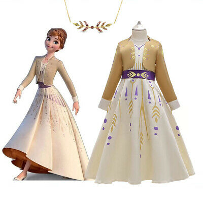 AU32.95 • Buy 2019 New Release Girls Frozen 2 Anna Costume Party Birthday Dress Size 2-10Yrs