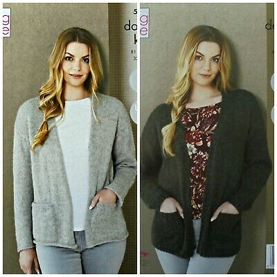 KNITTING PATTERN Ladies Easy Knit Cardigans Pockets &Plus Size DK King Cole 5493 • 3.95£