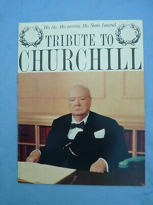 £6.50 • Buy 1965 Vintage Booklet Winston Churchill Funeral Life Tribute Daily Mirror