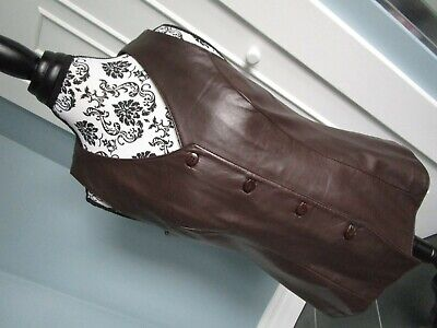 $ CDN65 • Buy DANIER Made In CANADA Brown Real Genuine Soft Leather Vest Size M/10-12 US