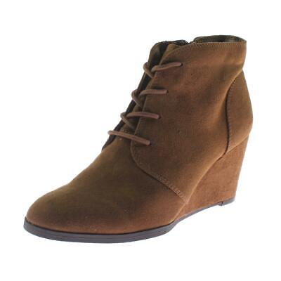 $12.63 • Buy American Rag Womens Baylie Faux Suede Ankle Booties Wedge Boots Shoes BHFO 2601