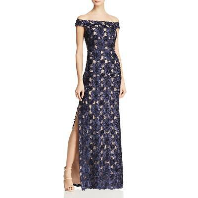 $23.08 • Buy Aidan Mattox Womens Embellished Off-The-Shoulder Evening Dress Gown BHFO 1298