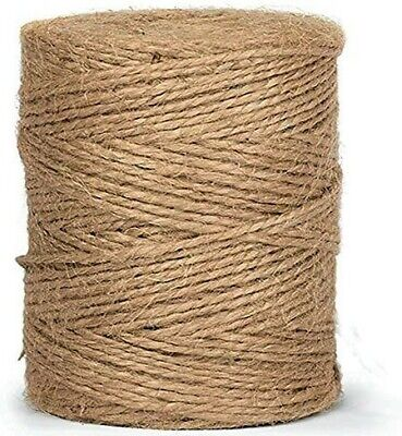 10m-900m 3 Ply Natural Brown Soft Jute Twine Sisal String Rustic Cord Shabby • 1.49£
