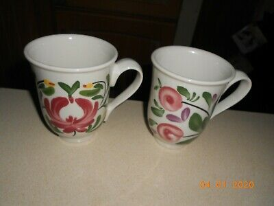Portmeirion Welsh Dresser Pair Of Bell Shaped Mugs • 25£