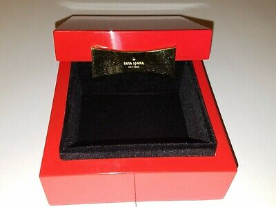$ CDN43.90 • Buy Kate Spade Garden Drive Red Lacquer Square Jewelry Box Perfect Valentines Gift