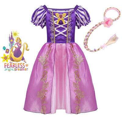 Tangled Princess Rapunzel Cosplay Party Fancy Dress Up Costume Girls Outfit WBD • 11.58£