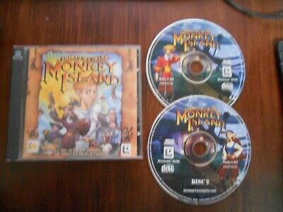 PC CD-Rom Game * Escape From Monkey Island * Lucasarts • 3.99£