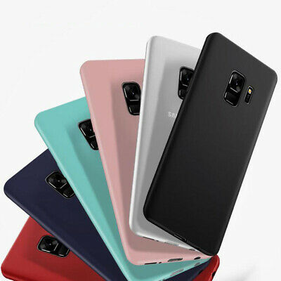 $ CDN2.57 • Buy Ultra Thin Matte Silicone Cover Case For Samsung Galaxy S8 S9 S8 Plus Slim  Case