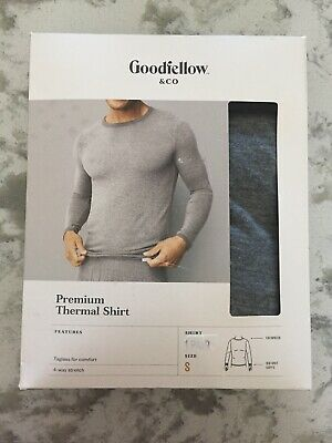 $13 • Buy Goodfellow & Co Men's Long Sleeve Premium Thermal T-Shirt, Gray, Small NEW 12192