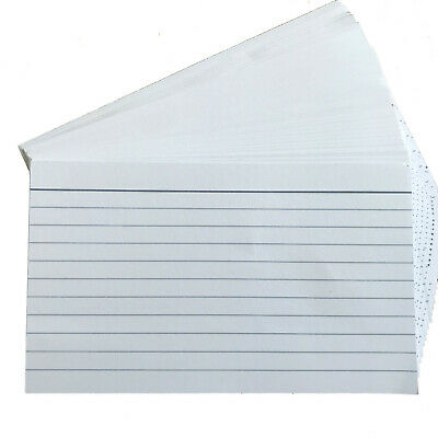 £1.89 • Buy 100 Lined Revision/Flash/Index Record Cards 127mm X 76mm Double Side Feint Ruled