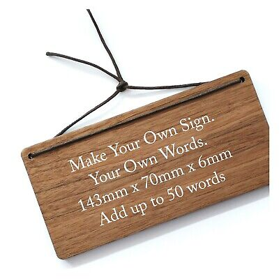 Personalised Shabby Wooden Sign Custom Bespoke Made Wall Door Hanging Plaque • 7.99£