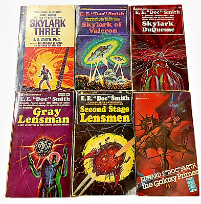 $14.99 • Buy Lot Of 6  E E Doc  Smith Books Paperback Lensmen Skylark Galaxy Primes