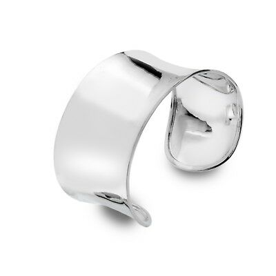 Wide Solid Silver Cuff Torque Bangle Bracelet Hallmarked Boxed • 269.95£