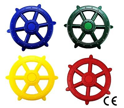 Kids Pirate Wheel Toy For Climbing Frames Large Steering Available In 4 Colours  • 14.99£
