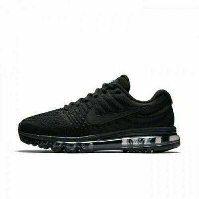 $129.99 • Buy Nike Air Max 2017 Mens Running Lifestyle Shoes 849559 004  Triple Black  NIB