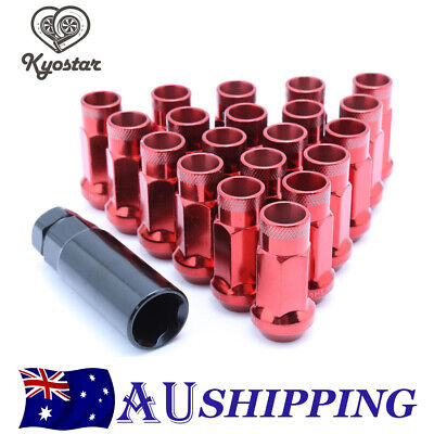 AU31.68 • Buy 20PC Red Open Ended Steel Wheel Lug Nuts With Adapter M12x1.25 For Subaru Suzuki