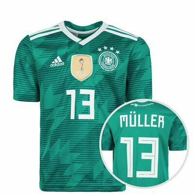 Adidas Childrens  DFB Germany T-Shirt 13 Müller / Green Size 140 Cm Free P&P UK  • 41.57£