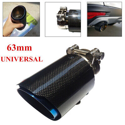 $ CDN50.17 • Buy Real Carbon Fiber Car Exhaust Pipe Muffler End Tips Tailpipe 63mm In -101mm Out