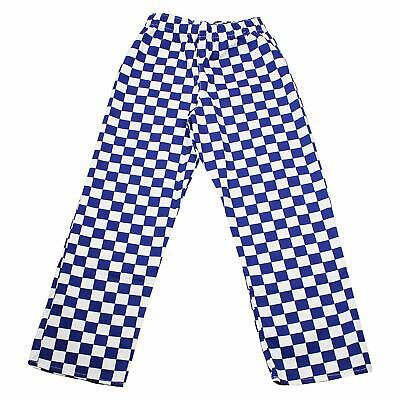 £7.99 • Buy Blue Check Chefs Trousers Perfect For Kitchen Cafe Fancy Dress