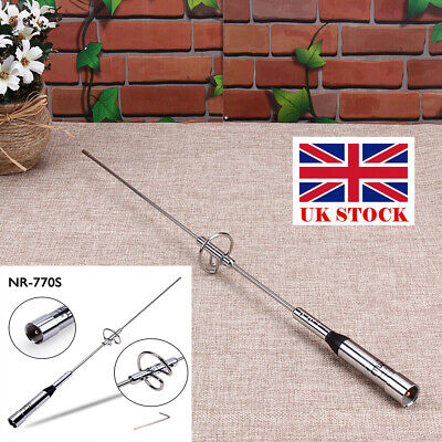 NR-770S Dual Band VHF/UHF 100W Car Mobile Ham Radio Antenna For TYT 17.5in UK • 7.61£