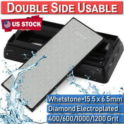 $11.39 • Buy 400#1000#600#1200 Diamond Whetstone Sharpening Stone Knife Grit Double Sided US