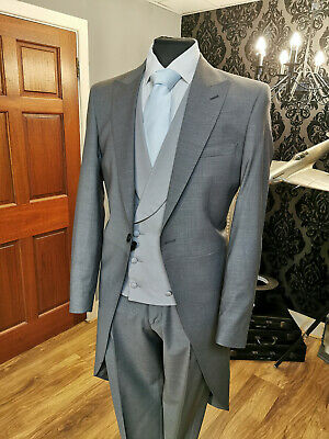 £104.64 • Buy New Pale Grey Two Piece Ascot Tailcoat Clearance Sale Top & Tails Lightweight