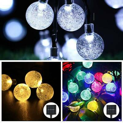 50 LED Solar Powered Garden Party Fairy String Crystal Ball Lights Xmas Ace • 7.29£