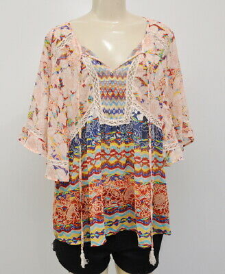$ CDN36.18 • Buy Anthropologie Size Large Meadow Rue Prairie Blossom Blouse Women's Sheer Top
