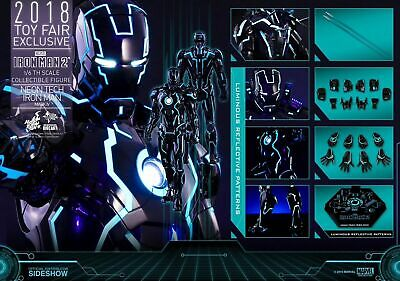 $ CDN879.58 • Buy (US) Hot Toys 1/6 MARVEL MMS485D24 NEON TECH IRON MAN MK4 MARK IV SDCC Exclusive