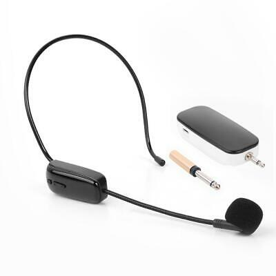 UHF Headset Wireless Microphones W/ Receiver Black For Teaching Voice Amplifier • 15.54£