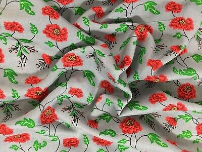 Stylex Floral Print 100% Viscose Dress Fabric Sold By Meter • 5.99£