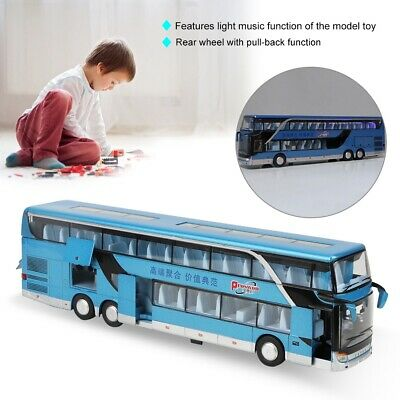 $ CDN25.35 • Buy Electric 1:50 Scale Alloy Double-decker Bus Model Toy With Light Music Kids Gift