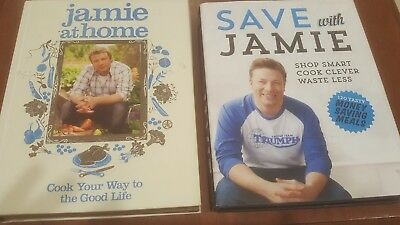 AU19.99 • Buy Jamie Oliver Cookbook Set 2 Vols Save With Jamie And Jamie At Home Free Shipping