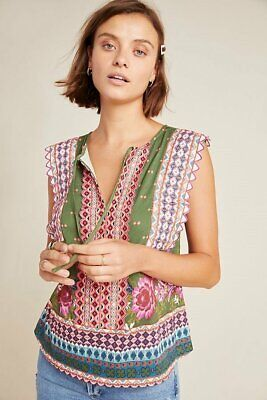 $ CDN70.64 • Buy NWT Anthropologie Sigrid Embroidered Tank Top Casual Multicolor Size L Large