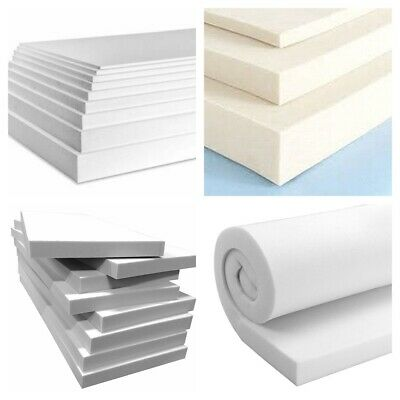 £2.99 • Buy High Density Upholstery Foam Cut To Any Size Cushions Seat Pad Sofa, Replacement