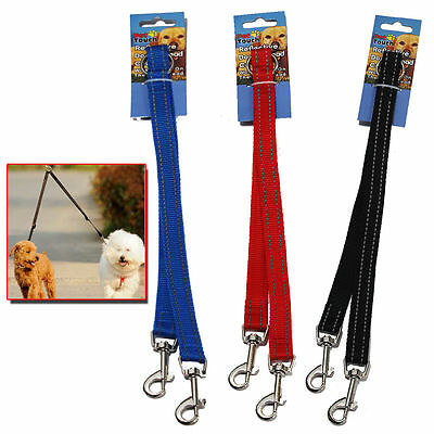 £2.95 • Buy Reflective Dog Coupler Lead Double Twin For Two Dogs Puppy Walking Leash